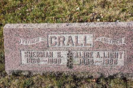 CRALL, ALICE A - Richland County, Ohio | ALICE A CRALL - Ohio Gravestone Photos