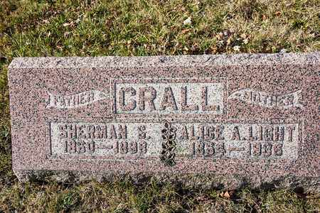 LIGHT CRALL, ALICE A - Richland County, Ohio   ALICE A LIGHT CRALL - Ohio Gravestone Photos