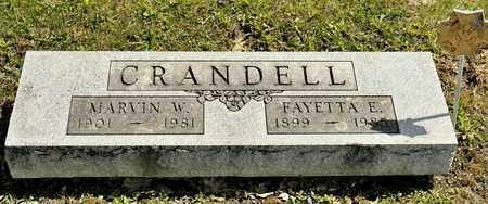 CRANDELL, MARVIN W - Richland County, Ohio | MARVIN W CRANDELL - Ohio Gravestone Photos