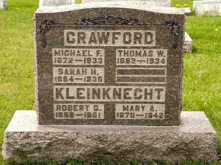 CRAWFORD, SARAH H - Richland County, Ohio | SARAH H CRAWFORD - Ohio Gravestone Photos