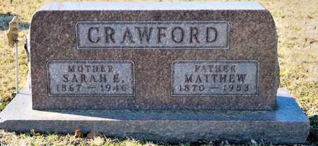 CRAWFORD, SARAH E - Richland County, Ohio | SARAH E CRAWFORD - Ohio Gravestone Photos