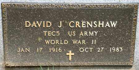CRENSHAW, DAVID J - Richland County, Ohio   DAVID J CRENSHAW - Ohio Gravestone Photos