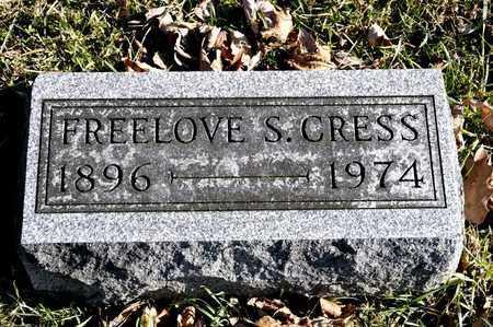 CRESS, FREELOVE S - Richland County, Ohio   FREELOVE S CRESS - Ohio Gravestone Photos