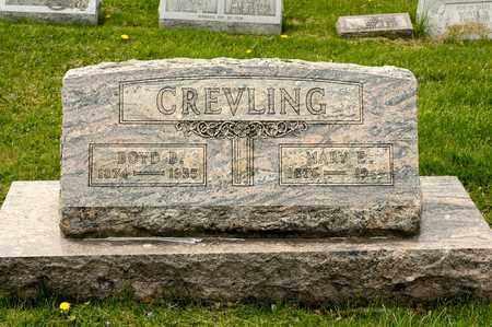 CREVLING, MARY E - Richland County, Ohio | MARY E CREVLING - Ohio Gravestone Photos