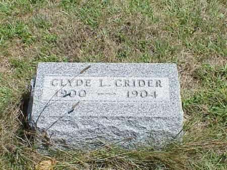 CRIDER, CLYDE L. - Richland County, Ohio   CLYDE L. CRIDER - Ohio Gravestone Photos