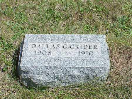 CRIDER, DALLAS G. - Richland County, Ohio | DALLAS G. CRIDER - Ohio Gravestone Photos
