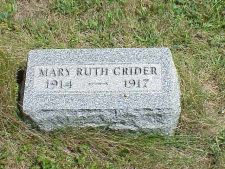 CRIDER, MARY RUTH - Richland County, Ohio | MARY RUTH CRIDER - Ohio Gravestone Photos