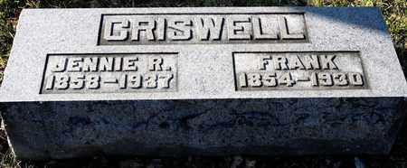 CRISWELL, JENNIE R - Richland County, Ohio | JENNIE R CRISWELL - Ohio Gravestone Photos