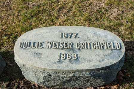 WEISER CRITCHFIELD, DOLLIE - Richland County, Ohio | DOLLIE WEISER CRITCHFIELD - Ohio Gravestone Photos