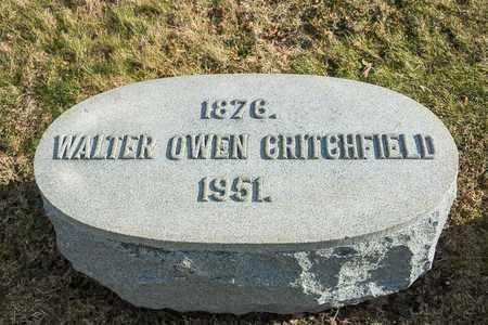 CRITCHFIELD, WALTER OWEN - Richland County, Ohio   WALTER OWEN CRITCHFIELD - Ohio Gravestone Photos