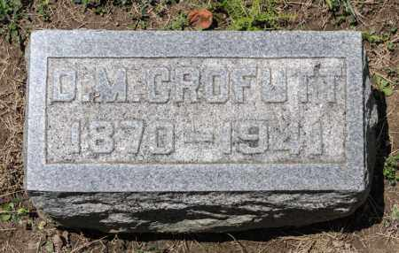 CROFUTT, D M - Richland County, Ohio | D M CROFUTT - Ohio Gravestone Photos
