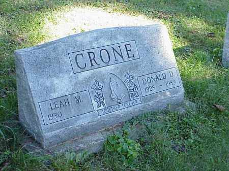 CRONE, DONALD D. - Richland County, Ohio | DONALD D. CRONE - Ohio Gravestone Photos