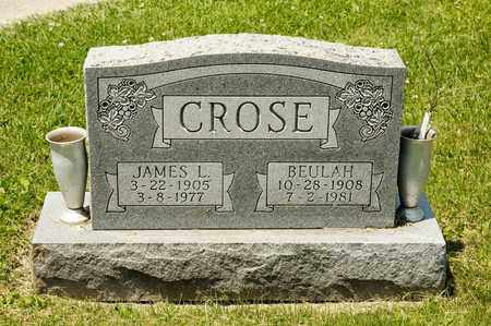 CROSE, JAMES L - Richland County, Ohio | JAMES L CROSE - Ohio Gravestone Photos