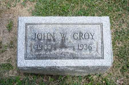 CROY, JOHN W - Richland County, Ohio | JOHN W CROY - Ohio Gravestone Photos
