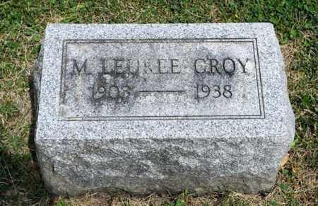 CROY, M LEUREE - Richland County, Ohio | M LEUREE CROY - Ohio Gravestone Photos