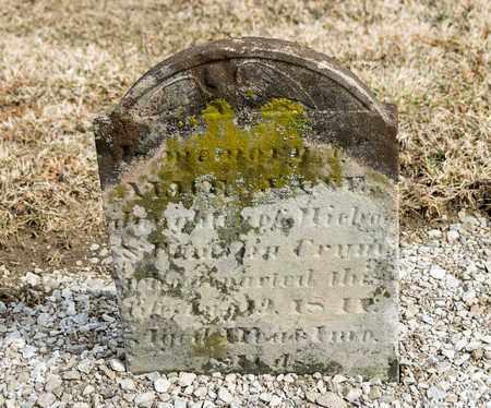CRUM, ALICE JANE - Richland County, Ohio | ALICE JANE CRUM - Ohio Gravestone Photos