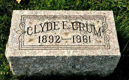 CRUM, CLYDE E - Richland County, Ohio | CLYDE E CRUM - Ohio Gravestone Photos