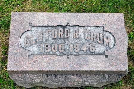 CRUM, CLIFFORD R - Richland County, Ohio | CLIFFORD R CRUM - Ohio Gravestone Photos