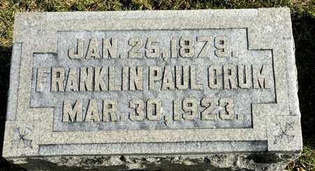 CRUM, FRANKLIN PAUL - Richland County, Ohio | FRANKLIN PAUL CRUM - Ohio Gravestone Photos