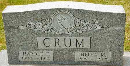 CRUM, HAROLD E - Richland County, Ohio | HAROLD E CRUM - Ohio Gravestone Photos