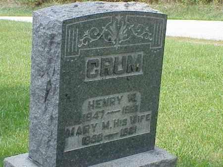 CRUM, MARY M. - Richland County, Ohio | MARY M. CRUM - Ohio Gravestone Photos
