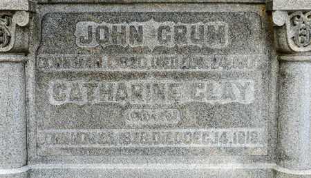 CRUM, JOHN - Richland County, Ohio | JOHN CRUM - Ohio Gravestone Photos