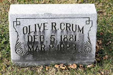 CRUM, OLIVE R - Richland County, Ohio | OLIVE R CRUM - Ohio Gravestone Photos