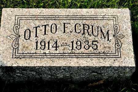CRUM, OTTO F - Richland County, Ohio | OTTO F CRUM - Ohio Gravestone Photos