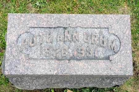 CRUM, RUTH ANN - Richland County, Ohio | RUTH ANN CRUM - Ohio Gravestone Photos