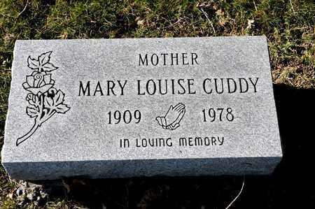 CUDDY, MARY LOUISE - Richland County, Ohio | MARY LOUISE CUDDY - Ohio Gravestone Photos