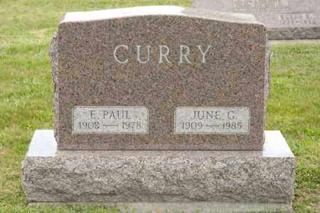 CURRY, E PAUL - Richland County, Ohio | E PAUL CURRY - Ohio Gravestone Photos