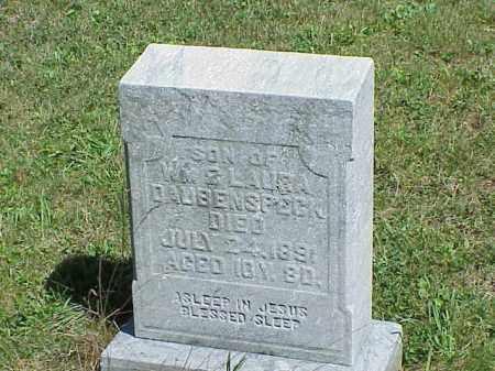 DAUBENSPECK, SON - Richland County, Ohio   SON DAUBENSPECK - Ohio Gravestone Photos