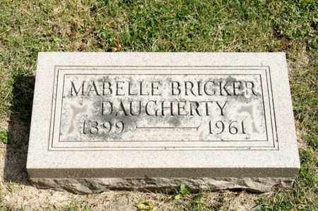 BRICKER DAUGHERTY, MABELLE - Richland County, Ohio | MABELLE BRICKER DAUGHERTY - Ohio Gravestone Photos