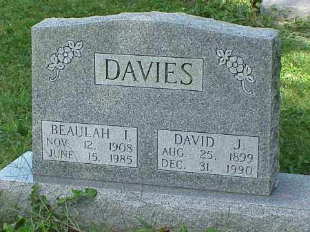 DAVIES, DAVID J. - Richland County, Ohio | DAVID J. DAVIES - Ohio Gravestone Photos