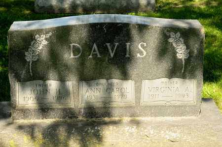 DAVIS, VIRGINIA A - Richland County, Ohio | VIRGINIA A DAVIS - Ohio Gravestone Photos