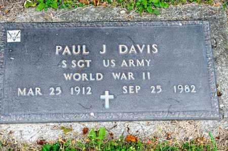 DAVIS, PAUL J - Richland County, Ohio   PAUL J DAVIS - Ohio Gravestone Photos