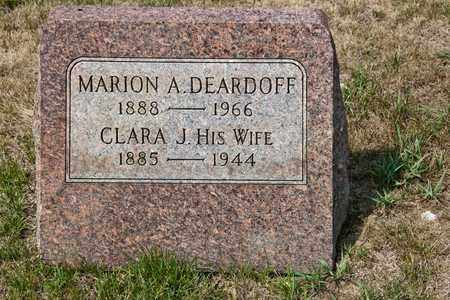 DEARDOFF, CLARA J - Richland County, Ohio | CLARA J DEARDOFF - Ohio Gravestone Photos