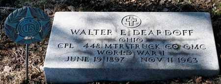 DEARDOFF, WALTER E - Richland County, Ohio   WALTER E DEARDOFF - Ohio Gravestone Photos