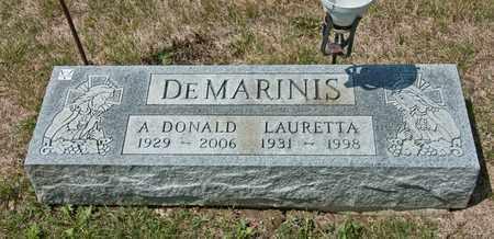 DEMARINIS, LAURETTA - Richland County, Ohio   LAURETTA DEMARINIS - Ohio Gravestone Photos