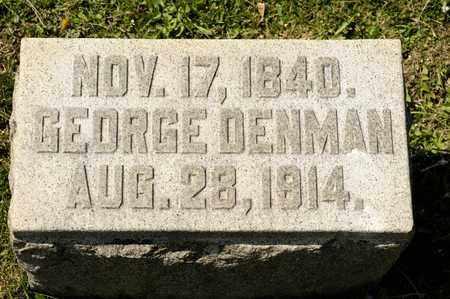 DENMAN, GEORGE - Richland County, Ohio | GEORGE DENMAN - Ohio Gravestone Photos