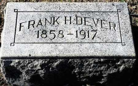 DEVER, FRANK H - Richland County, Ohio | FRANK H DEVER - Ohio Gravestone Photos