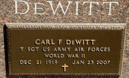 DEWITT, CARL F - Richland County, Ohio | CARL F DEWITT - Ohio Gravestone Photos