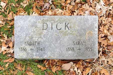 DICK, ANDREW - Richland County, Ohio | ANDREW DICK - Ohio Gravestone Photos