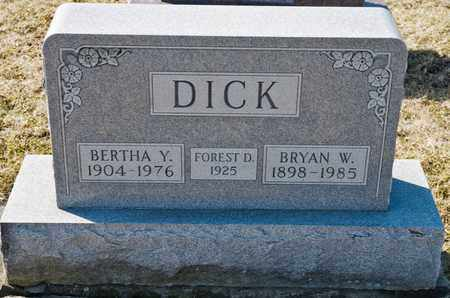DICK, BRYAN W - Richland County, Ohio | BRYAN W DICK - Ohio Gravestone Photos