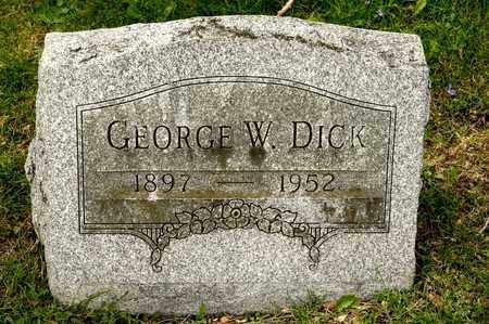 DICK, GEORGE W - Richland County, Ohio   GEORGE W DICK - Ohio Gravestone Photos