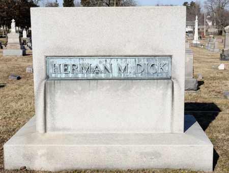 DICK, HERMAN M - Richland County, Ohio | HERMAN M DICK - Ohio Gravestone Photos