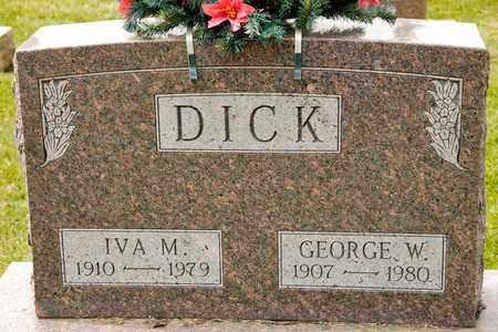 DICK, IVA M - Richland County, Ohio | IVA M DICK - Ohio Gravestone Photos