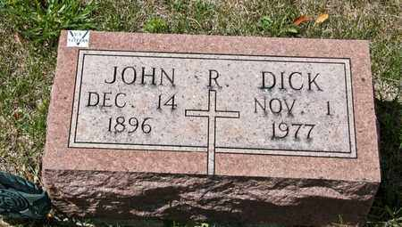 DICK, JOHN R - Richland County, Ohio | JOHN R DICK - Ohio Gravestone Photos