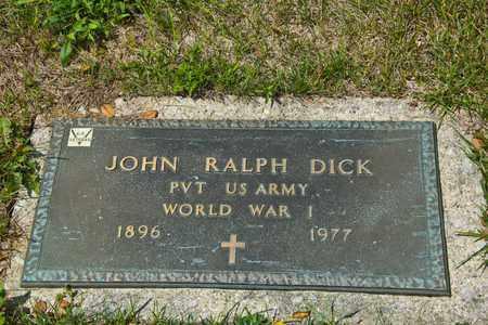 DICK, JOHN RALPH - Richland County, Ohio | JOHN RALPH DICK - Ohio Gravestone Photos