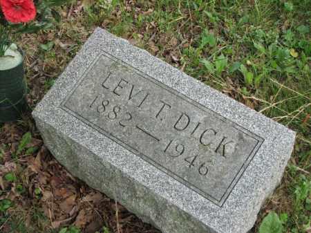 DICK, LEVI T. - Richland County, Ohio | LEVI T. DICK - Ohio Gravestone Photos